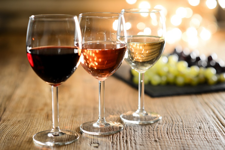 Diferentes tipos de vinhos