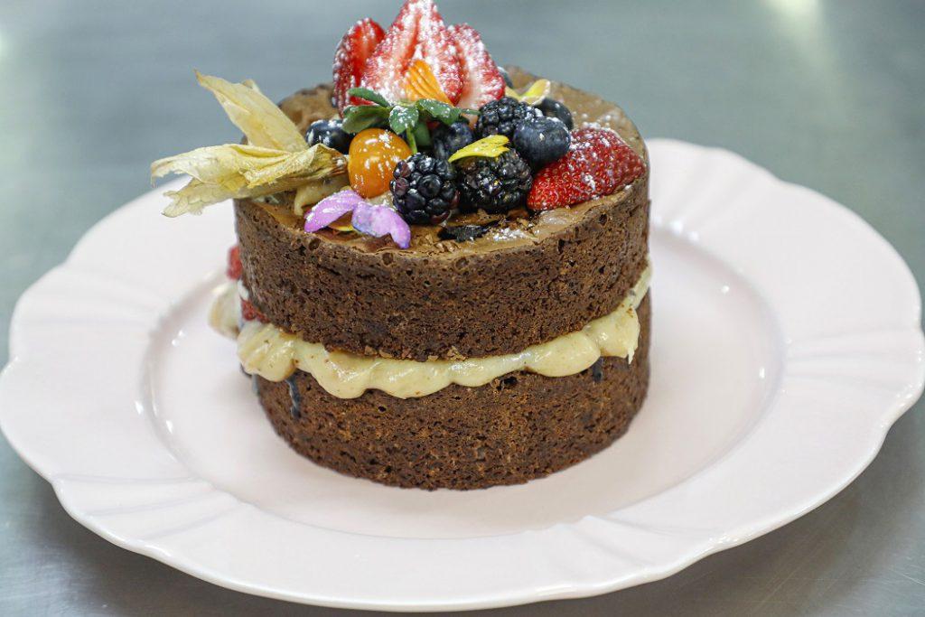 Naked Cake de Brownie de Chocolate